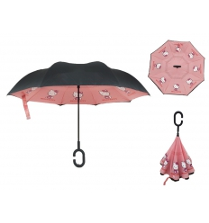 Standing umbrella with print