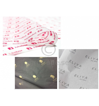 Silkespapper med tryck