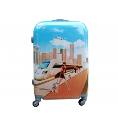 Suitcase with print