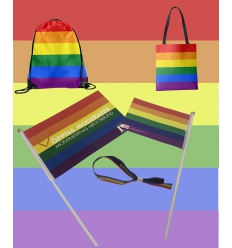 Pride merchandise with print